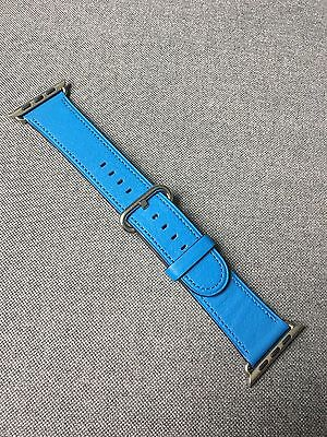 42mm Apple Watch Band Leather Classic Buckle Blue Genuine APPLE OEM