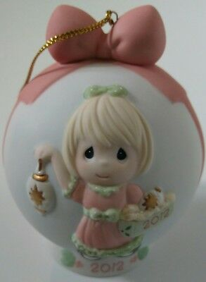 PRECIOUS MOMENTS xmas ornament PORCELAIN 2012  ~ 121003 ~