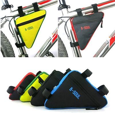 Bicycle Bike Front Tube Triangular Cycling Frame Bag Saddle Tool Storage UK