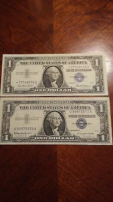 Two Silver Certificates with unique serial numbers!!!
