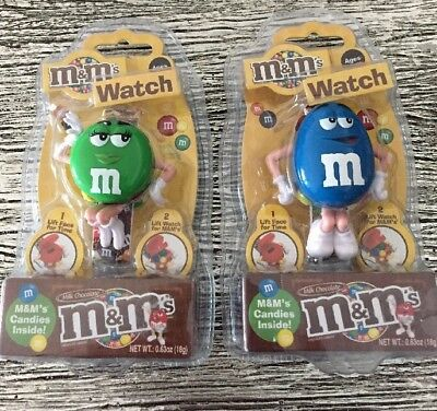 M & M's Compartment Watches Green & Blue
