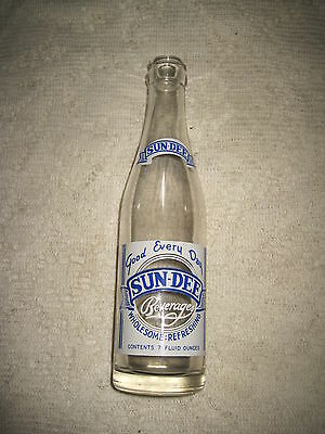 Vintage Sun-Dee Beverage Bottle - Lowell Mass