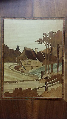 H.Lachmann wood-inlaid picture