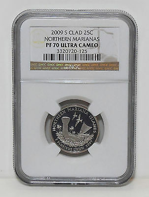 NGC 2009 S Clad Northern Marianas PF 70 Ultra Cameo U.C. State Quarter Proof
