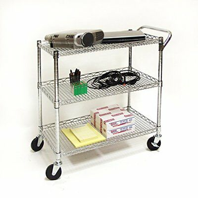 Stainless Steel Cart Kitchen Office Dining Shelf Work Rolling Utility Carts Food