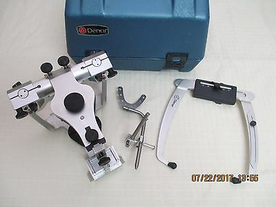 DENAR FULLY ADJUSTABLE DENTAL ARTICULATOR with FACEBOW & CASE - Used