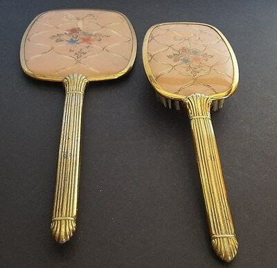 Vintage Brush & Mirror Set