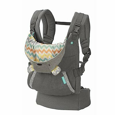 Infantino Cuddle Up CARRIER, Adjustable Ergonomic Hoodie BABY CARRIER, NO PACKAG