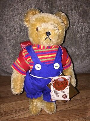 """Hermann Hiker Small School Boy Jointed  Teddy Bear ~8.5"""" Tall With Tags"""