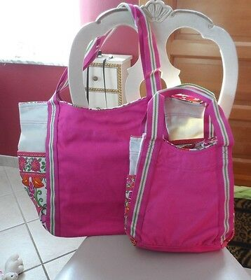 Vera Bradley Large and Small colorblock tote in Lilli Bell