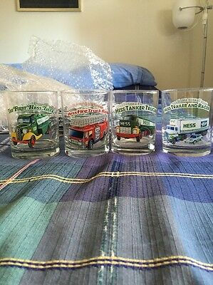 Hess Toy Truck Collector Series Glasses  Set of 4