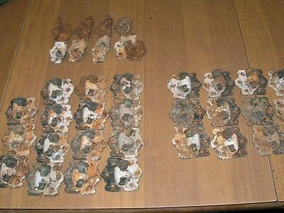 Antique Cast Iron Lift Off Shutter Hinges 12 Left &15 Right,62 Pieces Total