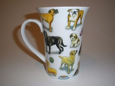 PAUL CARDEW  Coffee Tea Mug MAN'S BEST FRIEND Multi Breed Dog / Puppy England