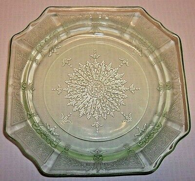 Anchor Hocking Glass PRINCESS Green Bread & Butter Plate Depression (1931-35)