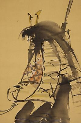JAPANESE HANGING SCROLL ART Painting  Asian antique  #E6601