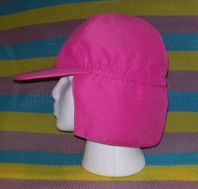 Koala Kids Girl's Pink Sun Hat with Back Neck Flap Size 5T Used