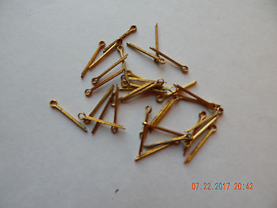 "BRASS COTTER PINS  1/16 x 3/4""  25 PCS. NEW-NOS MAY HAVE SOME TARNISH"
