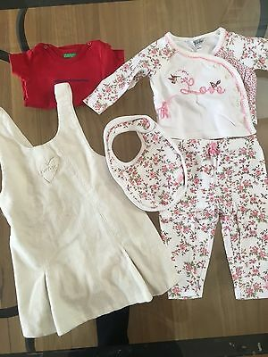 Size O Baby Girls Clothes package - Bebe, Benetton etc. Package