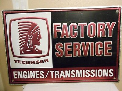 "Big Tecumseh Factory Service Engines/Transmissions Repair Dealer Sign 36"" X 24"""