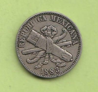 1883 M° Mexico one centavo- neat type coin