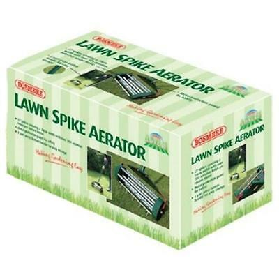 LAWN SPIKE AERATOR 3 Part Press Button Handle And Metal Protection Safety Guard