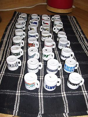 Lot of 31 NFL Ceramic Two-Sided Mini Mug Cups