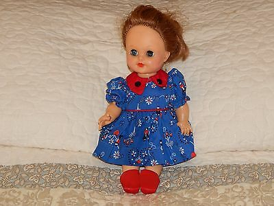 Vintage 1960's Doll Eegee 11 inch In Original Outfit + Shoes