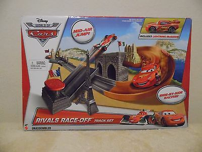 Disney World of Cars Rivals Race Off Track Set with Lightning McQueen NIB
