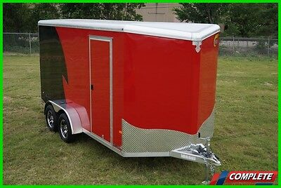 JUST IN Aluminum 7 X 14 V-Nose UTV ATC Motorcycle Cargo Trailer - 1800lbs Empty!