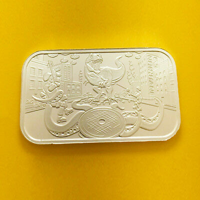 The Invasion 2 Silver 1 Oz Bar By Cmg Mint .999 Fine Silver