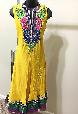Indian Pakistan Bollywood Kurti Women CHIFFON Designer Dress Top US size 38