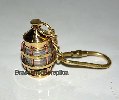 Antique Brass Maritime Nautical Lamp Key Chain