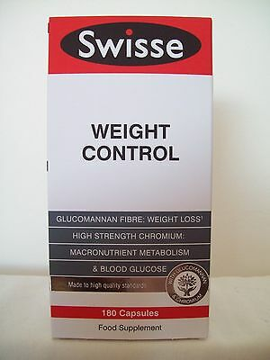 Swisse Weight Control 180 Tablets Glucomannan Fibre