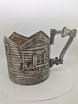 A Russian Solid Silver Marked 84 Tea Cup Holder