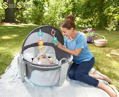 Fisher Price On The Go Baby Dome Play Napping UV Protection Outdoor Indoor