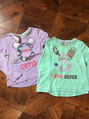 Next Girls Mouse Tops NEW with tags 18-24 months