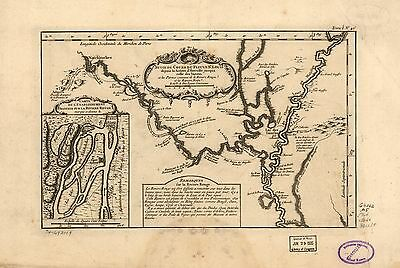 12x18 inch Reprint of Shipping Coastal And Seas Map Saint Louis Mississippi