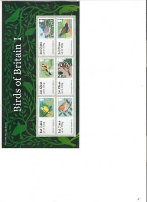 2010  Royal Mail Post And Go Birds 1 Special Pack