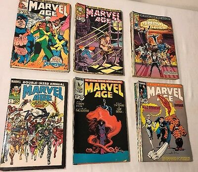 MARVEL AGE LOT OF 43 BOOKS ,1,30,40,50,60,70.1980's .