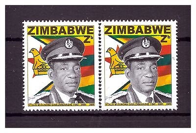 Zimbabwe 2009 National Heroes Pair Sg1284 Major Error,additional Z On Left Stamp