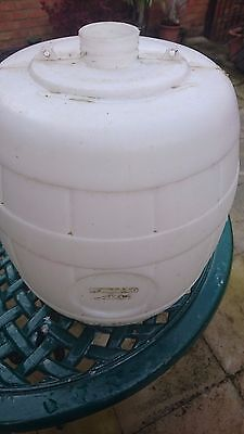 White beer barrel - repaired. Home brew. 40pts. 5 gallon. Home brew equipment