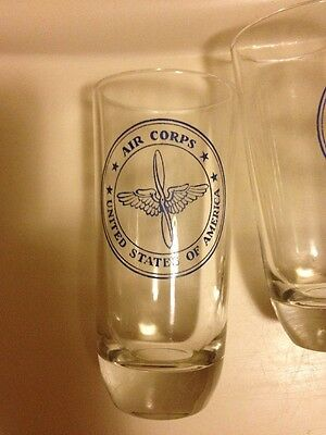 United States of America Commemorative Air Corp Glasses Set Of 4