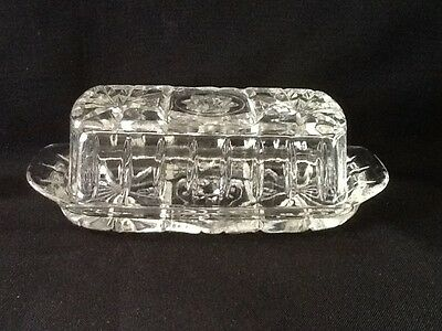 Crystal Cut 2 Piece Butter Dish