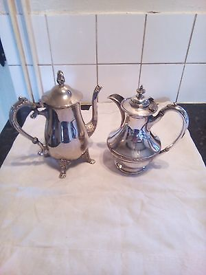 Silverplated  Teapot  And  Hot  Water  Pot
