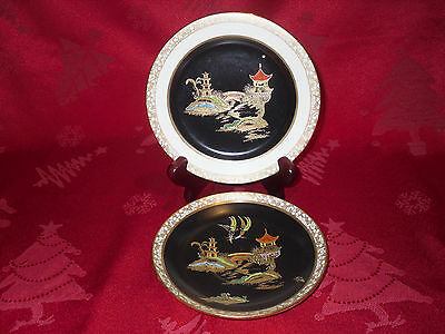 Carlton Ware Hand Painted Chinese Pattern Saucer And Tea Plate