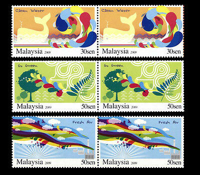 MALAYSIA 2009 Conservation Of Nature MNH Pairs Commemorative Full Set OG F-VF