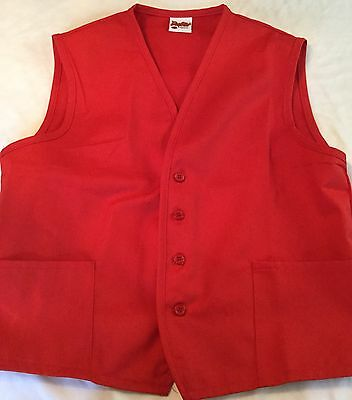 NEW Daystar Apparel Red Two pocket Unisex Restaurant Work Vest Size Extra Large