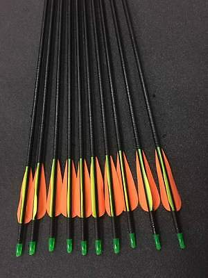 "20x 28"" Fiberglass Arrows upto 30LB For Kid Practice Target Recurve Compound Bow"