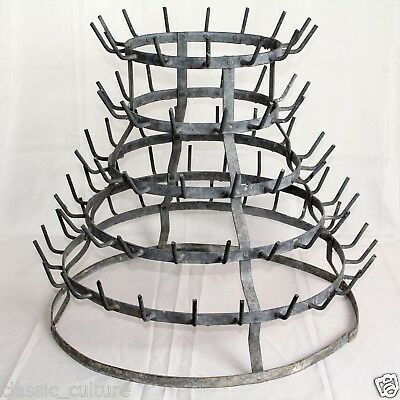 Bottle Drying Rack Antique French Authentic c.1900 56cm H