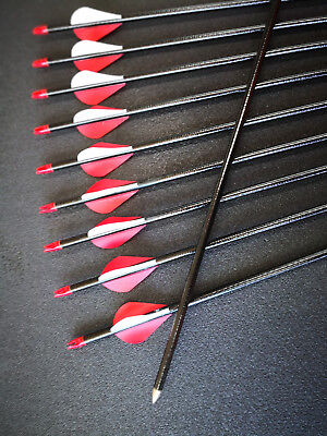 "20x 26"" Fiberglass Arrows upto 30LB For Kid Practice Target Recurve Compound Bow"